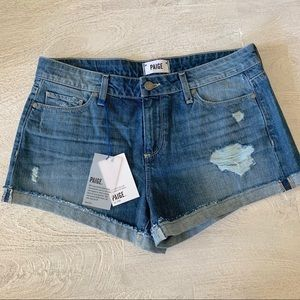 Paige Jimmy Jimmy Distressed Denim Short - NWT